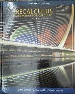 Precalculus Mathematics For Calculus Teacher S Edition James