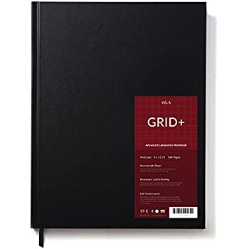 .25 Engineering Grid Format BookFactory Black Engineering Notebook EPRIL-240-SGS-LKT4 8 x 10 Engineering Lab Notebook Black Cover Smyth Sewn Hardbound 240 Pages