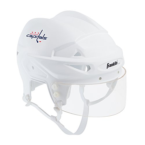 (Franklin Sports Washington Capitals Mini Player Helmet - White Helmet w/Player Number Stickers - Great for Autographs - NHL Official Licensed Product)
