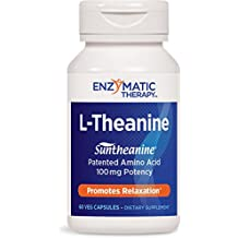 Enzymatic Therapy L-Theanine, 100mg, 60 Vegetarian Capsules