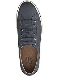 Johnston & Murphy Mens Allister Leather Textured Navy