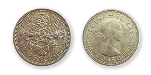 Coins for collectors - 1966 rare uncirculated sixpence 6p - World cup year six pence / British coins