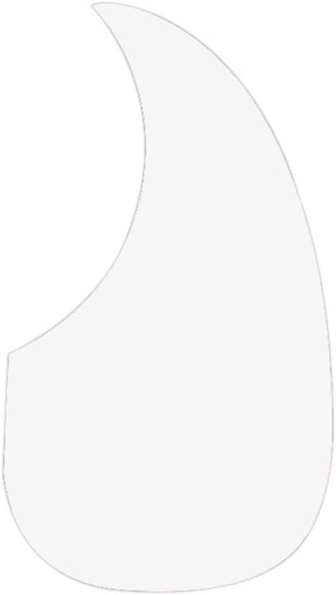 Bobury Guitare Acoustique Transparente Pickguard Clear Guard Acoustic Guitar Pick-Folk Protection de la Plaque Anti-Rayures