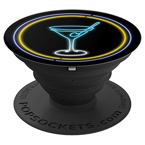 Single Line Art - Martini Glass - PopSockets Grip and Stand for Phones and Tablets ()