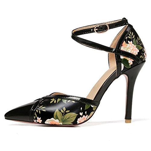 De Mujer Pumps Zapatos Aguja Coolcept Tacon Black Ean1Rdqqxw