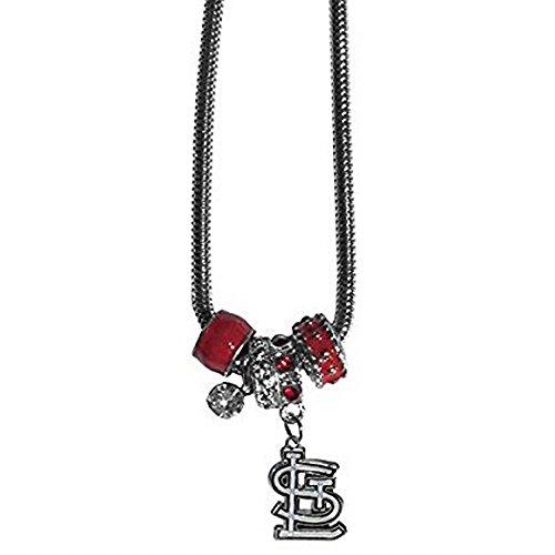 (St. Louis Cardinals Euro Bead Necklace )