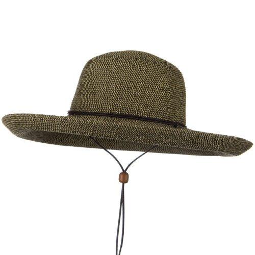 Jeanne Simmons UPF 50+ Cotton Paper Braid Kettle Brim Hat - Black Tweed OSFM