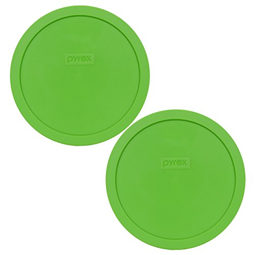 - Pyrex 7402-PC Green Round 6/7 Cup Storage Lid for Glass Bowls - 2 Pack