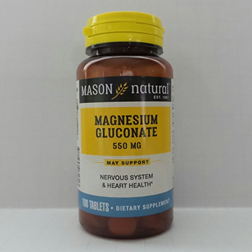 Mason Natural Magnesium Gluconate 550mg Tablets 100 Prevent