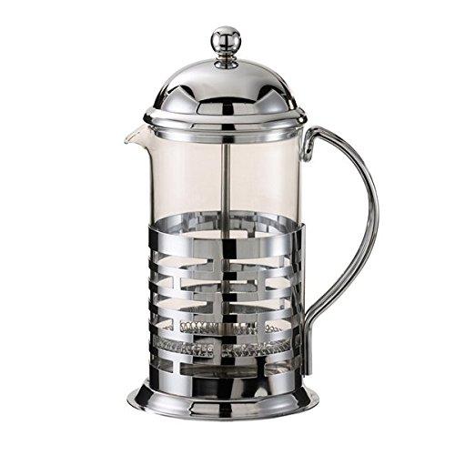 Service Ideas T677B Brick Coffee Press, Polished, Stainless Steel, 800 mL