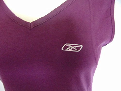 ladies-womens Reebok lila Baumwolle Sommer Weste Training Top Gr. 12 BNWT