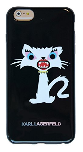 Karl Lagerfeld Monster Choupette TPU Hülle für Apple iPhone 6 Plus/6S Plus schwarz