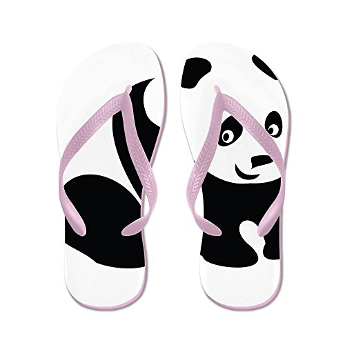 Cafepress Panda-1 - Slippers, Grappige Leren Sandalen, Strand Sandalen Roze