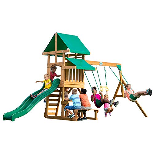 Backyard Discovery Belmont All Cedar Wood Playset Swing Set