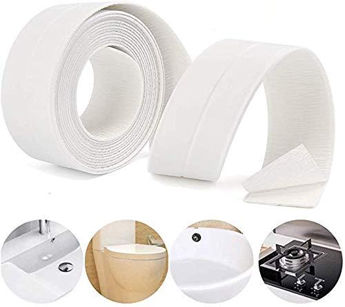 Lailieu Caulk Strip Caulking Tape for Bathroom PE Self Adhesive Caulk Tapes for Bathtub Waterproof Sealing Caulk Strip Tape,Trim for Tub Toile Wall Caulk Strip 1-1/2