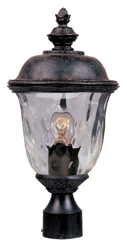 Maxim Lighting 3426WGOB Carriage House DC 1-Light Outdoor 19.5-Inch Pole/Post Lantern, Oriental Bronze Finish