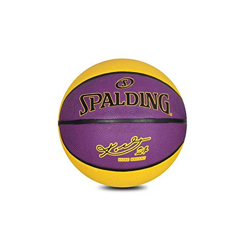 Spalding Kobe Bryant Rubber Basketball (Size 7) (Purple-Yellow) Price & Reviews