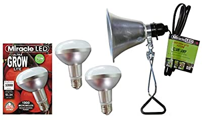 MiracleLED 604963 9.5W Grows for Pennies Ultra Grow 1000 Lumen Daylight Spectrum Grow LED Bulb