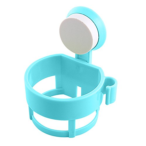 Shower Room Sucker Hair Dryer Holder Wall Mount Suction Cup Blue - 6