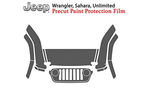 The Online Liquidator Full Front Protective Film Jeep Wrangler Sahara Unlimited 2018 - Clear Bra Car Paint Shield Cover