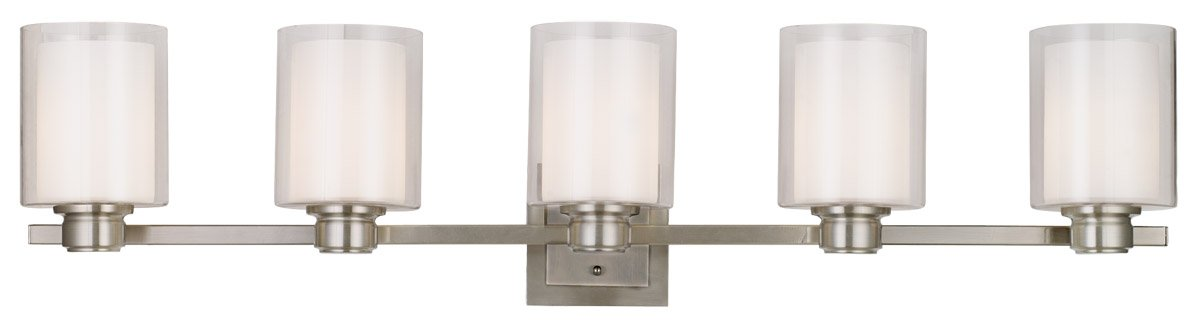Design House 556175 Oslo 5 Light Vanity Light, Satin Nickel by Design House