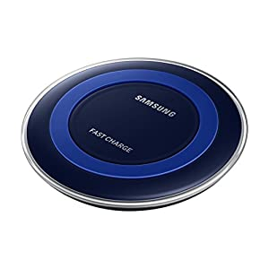 Samsung Qi Certified Fast Charge Wireless Charger (Universally compatible with all Qi enabled phones) - Special Edition – Black/Blue