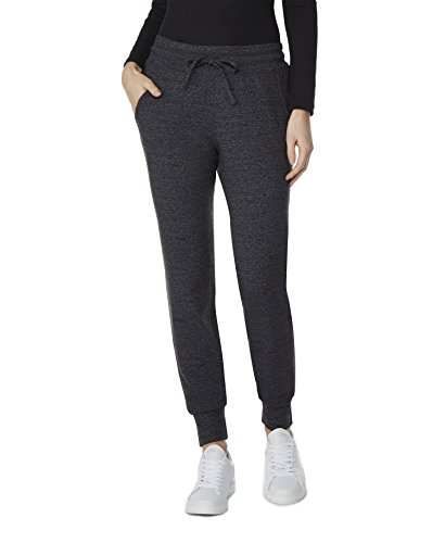 32 DEGREES Womens Faux Cashmere Joggers, Heather Charcoal Spacedye, ()