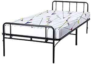 olee sleep 14 inch tall bed frame twin with headboard footboard 14bf07t twin. Black Bedroom Furniture Sets. Home Design Ideas