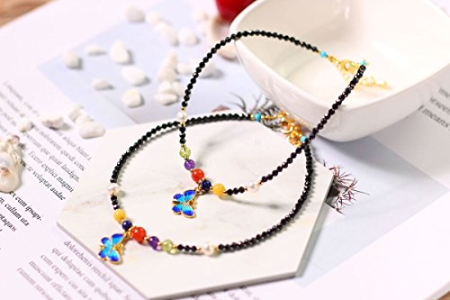TKHNE Natural black spinel olivine pearl Foot Chain anklet ankle chain South beeswax red green gold amethyst Foot Chain -