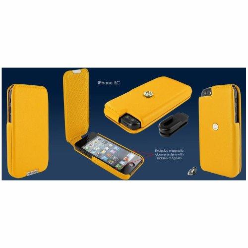 Piel Frama U638Y iMagnum Ledertasche für Apple iPhone 5C gelb