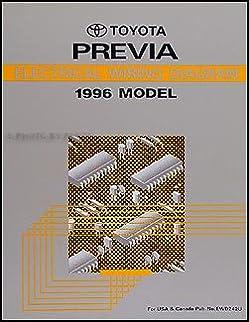 1996 toyota previa wiring diagram manual original supplement amazon rh amazon com toyota previa ignition wiring diagram toyota previa 2001 electrical wiring diagram