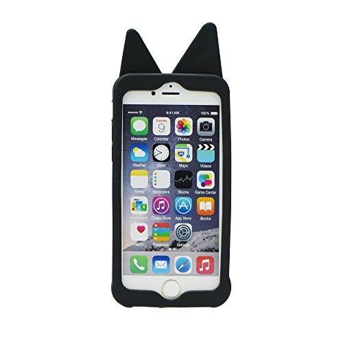 BACK CASE 3D DOG / HUND schwarz Für Apple iPhone 5 iPhone 5S iPhone 5G iPhone 5SE Hülle Cover Case Schutzhülle Tasche