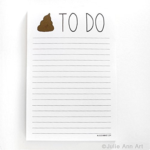 Notepad, 4x6, 50 Sheets, Shit To Do, By Julie Ann - To Summer List Do
