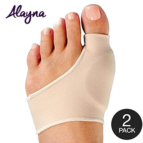 Alayna Bunion Corrector and Bunion Relief Sleeve with Gel Cushion Pads Splint Orthopedic Bunion Protector for Men and Women - Hallux Valgus Realignment - Stop Bunion Pain - Size Medium (2 PCS)