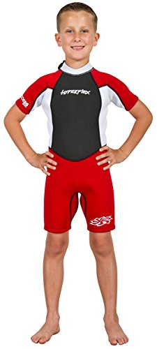 Red Shorty Wetsuit (Hyperflex Children's ACCESS 2mm Back Zip Spring - (Red, 6))