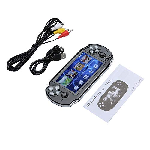PSFS Handheld Game Console,Pap GAMETA 2 Plus 4.3'' Handheld Game Console 64 Bit Video Game Concole Port,Kids Gift for Ages 3+ Factory Outlet (Black) by PSFS (Image #6)