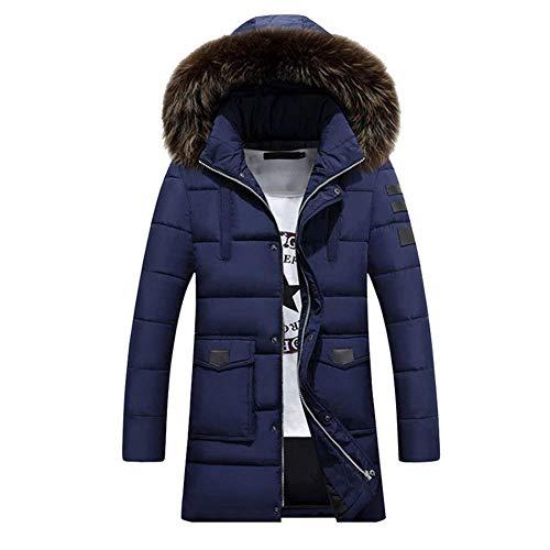 Hooded Winter Parka Outdoor Slim Coat Winter Blau Jacket Outwear Coat Coat Hood Parka Fit Jacket Winter Apparel Men's Detachable Jacket 5Tpx6qw6Y