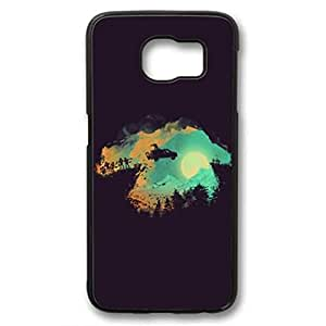 The ocean,the sea,the wave Custom Durable Plastic Tpu Rubber Cover Case for Samsung Galaxy S6 case - Black Case