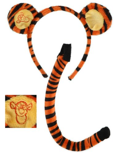 elope Disney's Winnie the Pooh Tigger Ears & Tail Set (Winnie The Pooh Costumes For Adults)