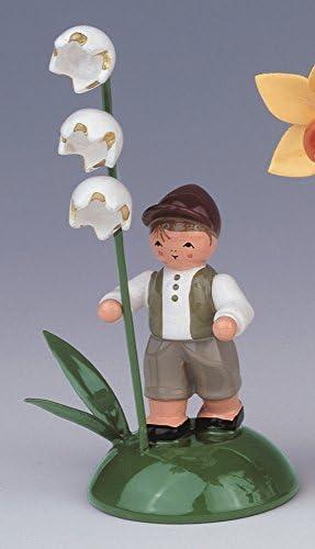 Sommerartikel Junge mit Maigl/öckchen 6 cm NEU Osterdeko Erzgebirge