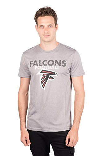 NFL Atlanta Falcons Men's T-Shirt Athletic Quick Dry Active Tee Shirt, Large, Gray