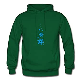 Hommcbr Women Snowflake_snowfall_2 Printed Hoodies (x-large,green)