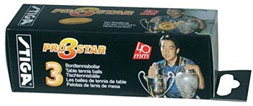 Stiga 3 Star Pro Table Tennis Sports Tournament Play Ping Pong Balls Pack Of 12 by Stiga