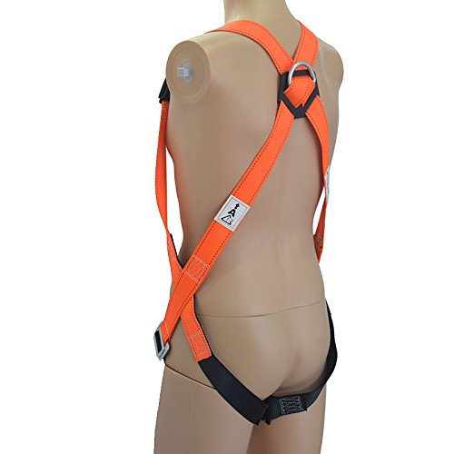 KSEIBI 421024 Full Body Fall Protection Light Weight Safety Harness w D-Ring and Chest Pass Thru Buckles (LIGHT-PRO) by KSEIBI (Image #1)