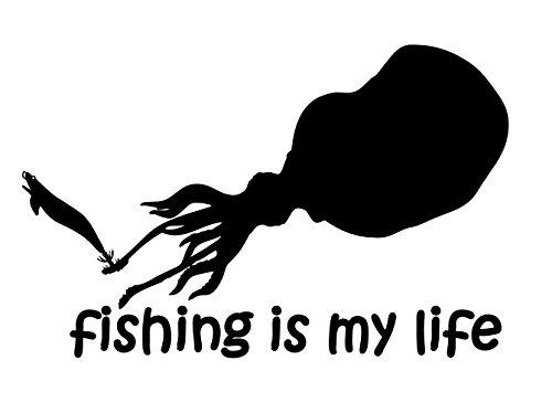 【オルルド釣具】フィッシングステッカー 「 fishing is my life (訳の商品画像