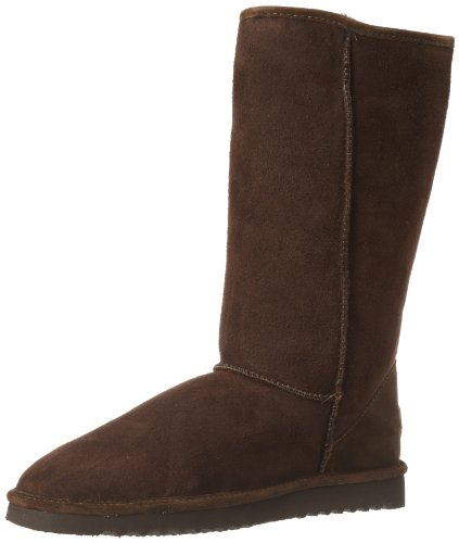 (Minnetonka Women's 3688 Tall Classic Pug Boot,Chocolate,5 M US)