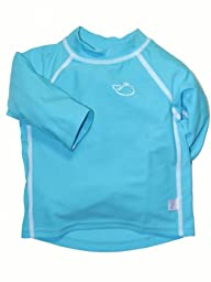 i play Unisex Baby Long Sleeve Rash Guard - Aqua - 3-6 Months