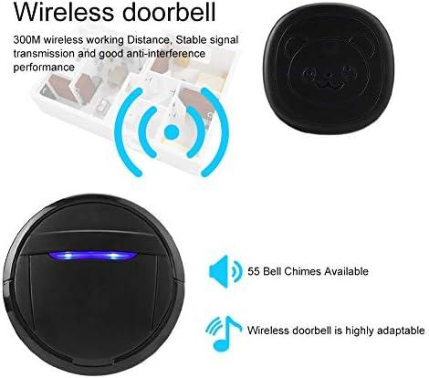 Campana de perro IP55 impermeable inal/ámbrica con bot/ón t/áctil para adiestramiento de perros llamador de puerta SOS incluido 2 transmisores 1 receptor Campana de puerta para perro EU