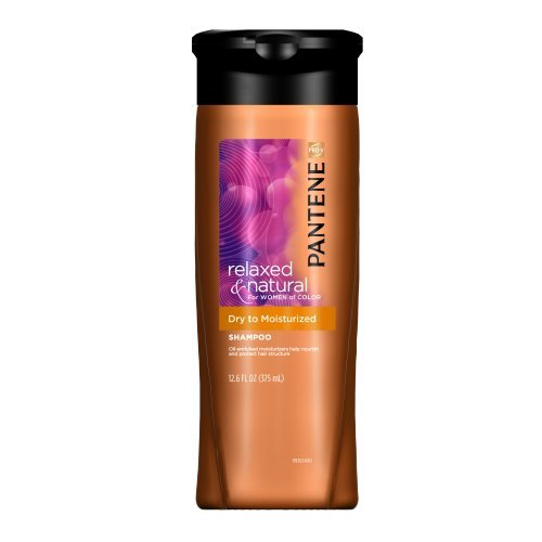 Pantene Pro-V Relaxed and Natural For Women of Color Dry to Moisturized Shampoo, 12.6-Fluid Ounce (Pack of 3) by Pantene