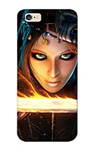 Hot New Woman With Her Flaming Sword Case Cover For Iphone 6 Plus With Perfect Design